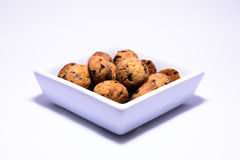 Uma bacia completamente de cookies Fotografia de Stock Royalty Free