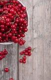 Uma bacia de corintos vermelhos Fotografia de Stock Royalty Free