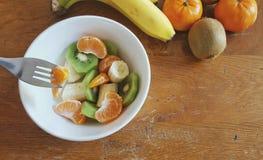 Uma bacia de salada de fruto Foto de Stock
