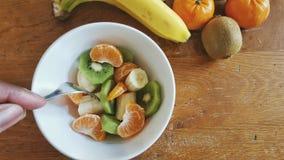 Uma bacia de salada de fruto Imagem de Stock