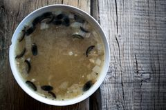 Uma bacia de sopa Fotos de Stock