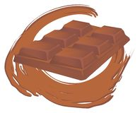 Uma barra de chocolate ilustração stock