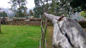 Uma barricada de madeira Foto de Stock Royalty Free