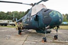 Uma base aérea militar abandonada na república checa imagem de stock