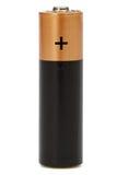 Uma bateria do AA isolada no branco, com trajeto de grampeamento Imagens de Stock Royalty Free