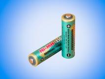 Uma bateria recarregável Fotografia de Stock Royalty Free