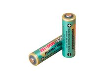 Uma bateria verde imagem de stock royalty free