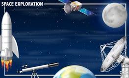 Uma beira da exploração do espaço ilustração royalty free