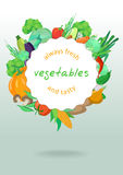 Uma beira do vetor de vegetais deliciosos Foto de Stock Royalty Free