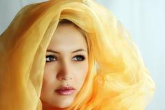 Uma beleza santamente Fotos de Stock Royalty Free