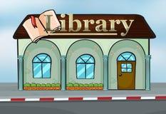 Uma biblioteca ilustração stock