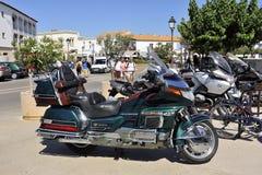 Uma bicicleta agradável Honda Goldwing Fotografia de Stock