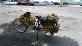 Uma bicicleta da banana Fotos de Stock Royalty Free