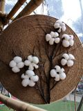 Uma boa ornamentação com algodão branco fotos de stock