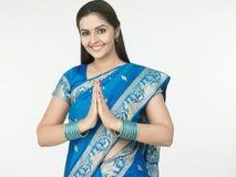 Uma boa vinda indiana imagem de stock royalty free