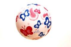 Uma bola de borracha branca Imagem de Stock