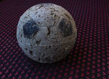 Uma bola muito usada Imagens de Stock Royalty Free