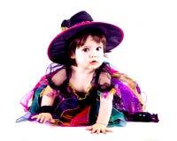 Uma bruxa da criança Fotos de Stock