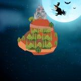 Uma bruxa vem em casa Fotografia de Stock