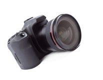 Uma câmera moderna de SLR Imagens de Stock