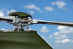 Uma cabeça de rotor do helicóptero Imagens de Stock Royalty Free