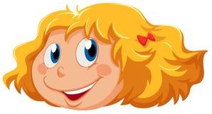 Uma cabeça de uma menina bonito ilustração royalty free