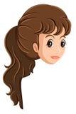 Uma cabeça de uma menina Fotografia de Stock Royalty Free