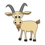 Uma cabra de vista feliz dos desenhos animados ilustração stock