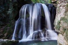 Uma cachoeira da angra de Le Furon Foto de Stock Royalty Free