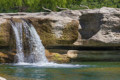 Uma cachoeira dos pés dez Foto de Stock