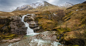 Uma cachoeira em Glencoe Foto de Stock Royalty Free