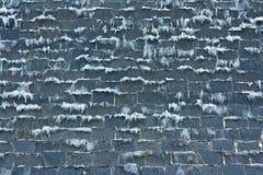 Uma cachoeira na pedra preta Imagem de Stock Royalty Free