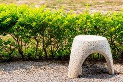 Uma cadeira de mármore Fotografia de Stock Royalty Free