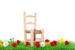 Uma cadeira de madeira Imagem de Stock