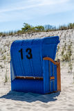 Uma cadeira de praia Fotografia de Stock Royalty Free