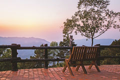 Uma cadeira em uma vigia Fotografia de Stock Royalty Free