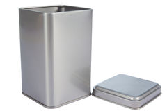 Uma caixa de alumínio imagens de stock