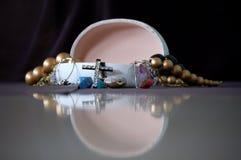 Uma caixa de jóia aberta Fotografia de Stock Royalty Free