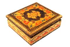 Uma caixa de jóia de madeira bonito Fotos de Stock Royalty Free
