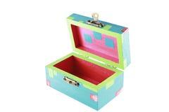 Uma caixa de jóia pintada aberta Foto de Stock Royalty Free