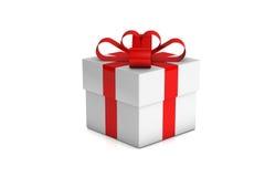 Uma caixa de presente branca Imagem de Stock Royalty Free