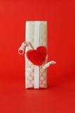 Uma caixa de presente envolvida Imagem de Stock