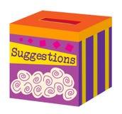 Uma caixa de sugestão ilustração royalty free