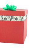 Uma caixa do dinheiro Fotografia de Stock Royalty Free