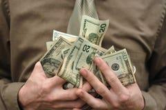 Uma caixa do dinheiro imagens de stock royalty free
