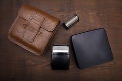 Uma caixa do whit do barbeador bonde do vintage Foto de Stock Royalty Free