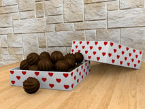 Uma caixa dos chocolates Imagem de Stock Royalty Free
