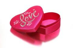 Uma caixa heart-shaped imagens de stock royalty free