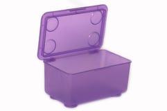 Uma caixa plástica Foto de Stock