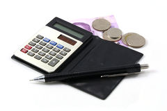 Uma calculadora Foto de Stock Royalty Free